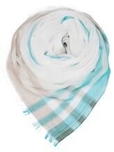 Палантин (текстиль) Agnona AS505Y 100%хлопок Бирюзовый Италия изображение 0