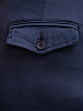 Брюки (текстиль) Bruno Manetti Z1T220 85% хлопок, 12% эластомультиэстер , 3% эластан Темно-синий Италия изображение 2