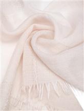Палантин (текстиль) Agnona AS506Y 70% кашемир, 30% шёлк Светло-бежевый Италия изображение 1