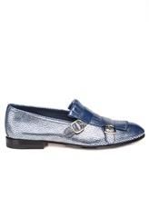 Туфли Santoni WUSM57622 100% кожа теленка Сине-бежевый Италия изображение 1