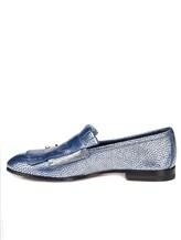 Туфли Santoni WUSM57622 100% кожа теленка Сине-бежевый Италия изображение 2