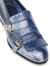 Туфли Santoni WUSM57622 100% кожа теленка Сине-бежевый Италия изображение 3