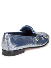 Туфли Santoni WUSM57622 100% кожа теленка Сине-бежевый Италия изображение 4