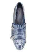Туфли Santoni WUSM57622 100% кожа теленка Сине-бежевый Италия изображение 5