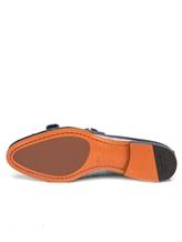 Туфли Santoni WUSM57622 100% кожа теленка Сине-бежевый Италия изображение 6