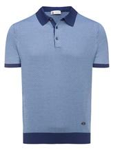 Поло Colombo MA03499 50% хлопок, 50% шёлк Сине-голубой Италия изображение 0