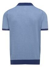 Поло Colombo MA03499 50% хлопок, 50% шёлк Сине-голубой Италия изображение 1