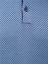 Поло Colombo MA03499 50% хлопок, 50% шёлк Сине-голубой Италия изображение 2