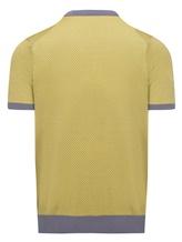 Поло Colombo MA03499 50% хлопок, 50% шёлк Желтый Италия изображение 1