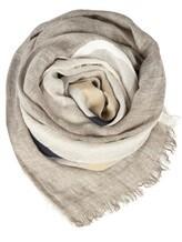 Палантин (текстиль) Lorena Antoniazzi LP35103SC1 80% лён, 20% хлопок Светло-серый Италия изображение 0
