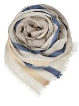Палантин (текстиль) Lorena Antoniazzi LP35103SC1 80% лён, 20% хлопок Серо-бежевый Италия изображение 0