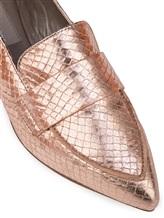 Балетки Attilio Giusti Leombruni D538056 100% кожа ягненка Бежево-розовый Италия изображение 5