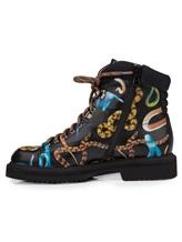 Ботинки Santoni WTWE57755 100% кожа теленка Черный Италия изображение 2