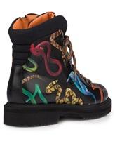 Ботинки Santoni WTWE57755 100% кожа теленка Черный Италия изображение 3