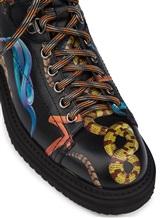 Ботинки Santoni WTWE57755 100% кожа теленка Черный Италия изображение 5
