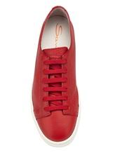 Кеды Santoni MBCN14387 100% кожа теленка Красный Италия изображение 6