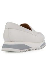 Туфли Santoni WBFL60494 100% кожа теленка Белый Италия изображение 3