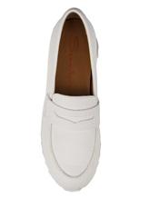 Туфли Santoni WBFL60494 100% кожа теленка Белый Италия изображение 4