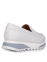 Туфли Santoni WBFL60494 100% кожа теленка Белый Италия изображение 10