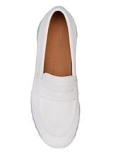 Туфли Santoni WBFL60494 100% кожа теленка Белый Италия изображение 13