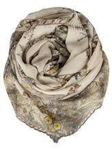 Палантин (текстиль) Faliero Sarti 1034 85% хлопок, 15% полиэстер Бежево-коричневый Италия изображение 0