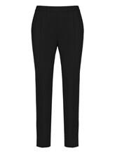 Брюки (текстиль) Cividini Q08CC798 98% шерсть, 2% эластан Черный Италия изображение 0