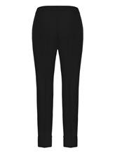 Брюки (текстиль) Cividini Q08CC798 98% шерсть, 2% эластан Черный Италия изображение 1