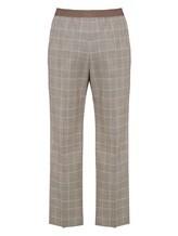 Брюки (текстиль) Agnona 79010Y 98% шерсть, 2% эластан Серый Италия изображение 1