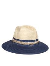 Шляпа Lorena Antoniazzi LP35123CP1 100% рафия Бежево-синий Италия изображение 0