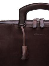 Сумка Santoni UFBBA1781 100% кожа теленка Темно-коричневый Италия изображение 4