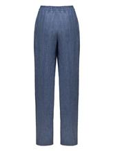 Брюки (текстиль) Agnona 74010Y 100% лён Голубой Италия изображение 1