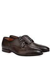 Туфли Santoni MCLE16325 100% кожа теленка Темно-коричневый Италия изображение 0