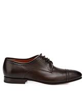 Туфли Santoni MCLE16325 100% кожа теленка Темно-коричневый Италия изображение 2