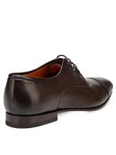 Туфли Santoni MCLE16325 100% кожа теленка Темно-коричневый Италия изображение 4