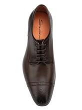 Туфли Santoni MCLE16325 100% кожа теленка Темно-коричневый Италия изображение 5