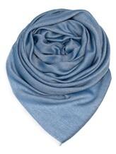 Палантин (текстиль) Agnona AS508Y 85% кашемир, 15% шёлк Синий Италия изображение 0