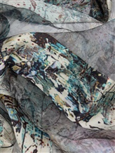 Шарф Faliero Sarti 1000 100% шёлк Серо-синий Индия изображение 1