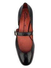Туфли Santoni WDDT57717 100% кожа теленка Черный Италия изображение 4