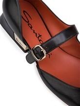 Туфли Santoni WDDT57717 100% кожа теленка Черный Италия изображение 5