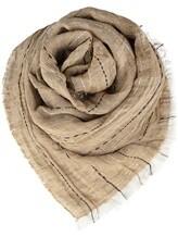 Палантин (текстиль) Lorena Antoniazzi LP35102SC1 90% лён, 10% хлопок Бежевый Италия изображение 0