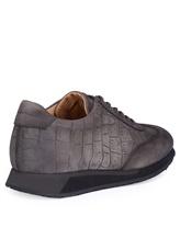 Кроссовки Santoni MBNV20745 100% кожа теленка Темно-серый Италия изображение 3