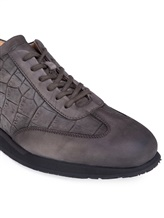 Кроссовки Santoni MBNV20745 100% кожа теленка Темно-серый Италия изображение 4
