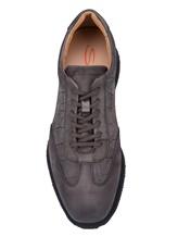 Кроссовки Santoni MBNV20745 100% кожа теленка Темно-серый Италия изображение 5