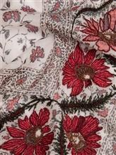 Палантин (текстиль) Faliero Sarti 1016 78% хлопок, 22% полиэстер Бело-красный Италия изображение 1