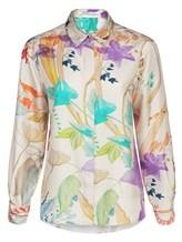 Блузка (текстиль) Agnona D4010Y 100% шёлк Натуральный Италия изображение 0