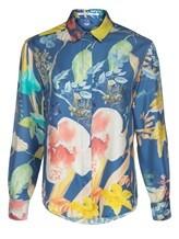 Блузка (текстиль) Agnona D4010Y 100% шёлк Темно-голубой Италия изображение 0