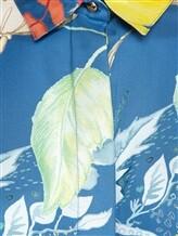 Блузка (текстиль) Agnona D4010Y 100% шёлк Темно-голубой Италия изображение 2
