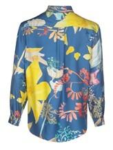 Блузка (текстиль) Agnona D4010Y 100% шёлк Темно-голубой Италия изображение 1