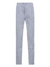 Брюки (текстиль) Lardini EGMIAMI3 96% хлопок 4% эластан Бело-синий Италия изображение 0