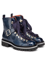 Ботинки Santoni WTWS57821 100% кожа теленка Синий Италия изображение 0